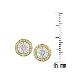 Auriya 14k Two-tone Gold 1/5ct TDW Diamond Earrings (H-I, I1-I2) - Thumbnail 2
