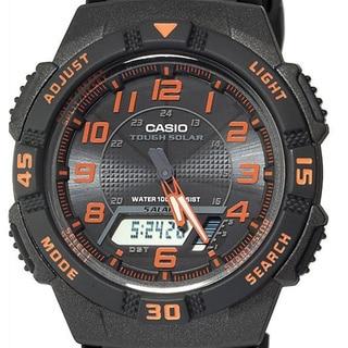 Casio Men's Black/ Orange Dual Function Watch