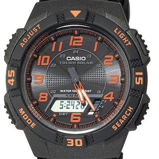 Casio Men's Black/ Orange Dual Function Watch