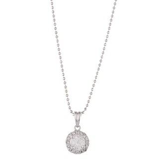 Victoria Kay 14k White Gold 1/2ct TDW Diamond Halo Necklace (I-J, I1-I2)