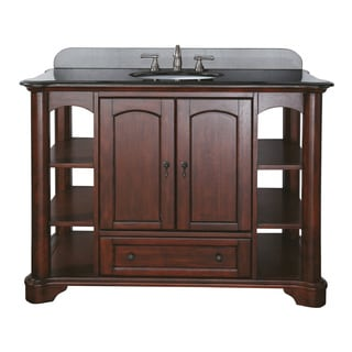 Avanity Vermont 48-inch Single Vanity in Mahogany Finish with Sink and Top