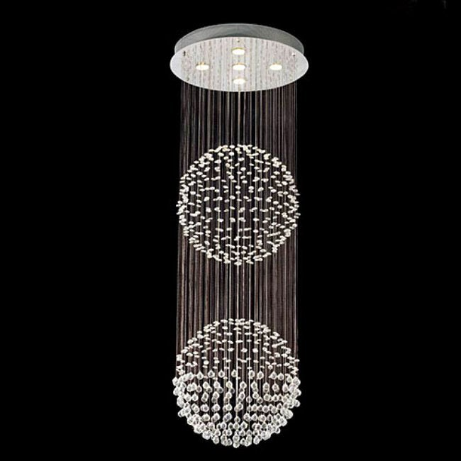 Gallery Empire Modern Crystal 5-light Chandelier