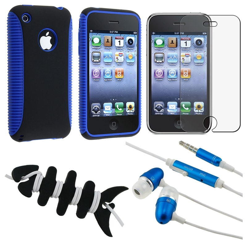 BasAcc Hybrid Case/ LCD Protector/ Headset/ Wrap for Apple iPhone 3GS