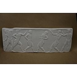 White Bonded Marble Greek Marathon Frieze