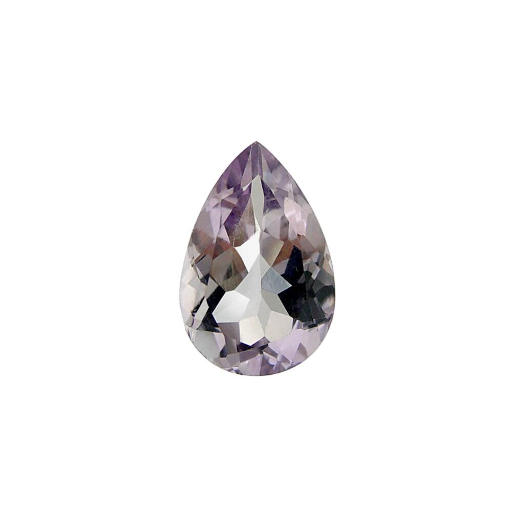 Glitzy Rocks Pear-shape 15x10mm 5ct TGW Rose De France Stone