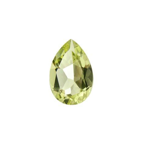Glitzy Rocks Pear-shape 12x8mm 2 3/4ct TGW Lime Quartz Stone