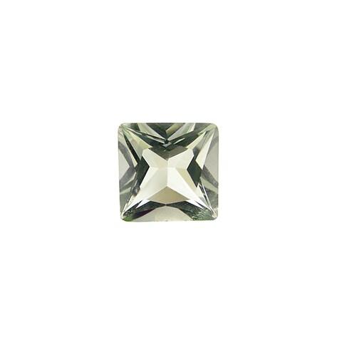 Glitzy Rocks Princess 8x8mm 4.7ct TGW Green Amethyst Stones (Set of 2)