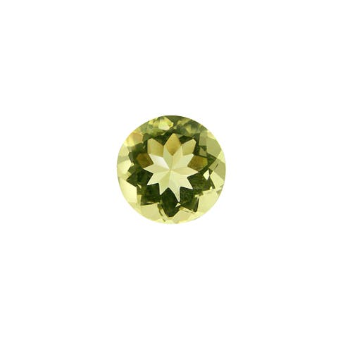 Glitzy Rocks Round 9mm 1.85ct TGW Lime Quartz Stone