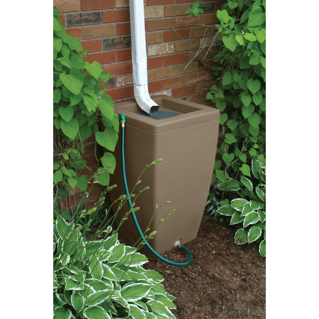 Shop Algreen Madison Rain Barrel Sandstone 49 Gallon