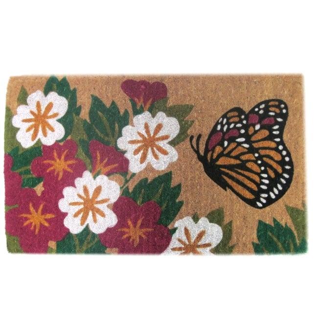 Butterfly Garden Door Mat