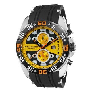 Stuhrling Original Men's Orbit Yellow-Dial Swiss Quartz Watch