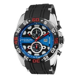 Stuhrling Original Men's Orbit Blue-dial Swiss Quartz Watch