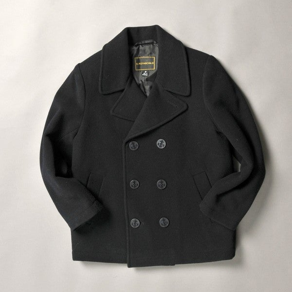 Rothschild Big Boy's Double Breasted Classic Pea Coat