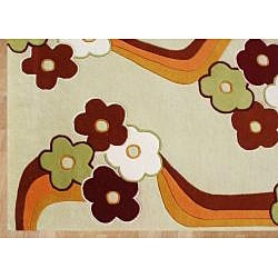 Alliyah Handmade Kids Multicolored New Zealand Blend Wool Rug (5' x 8')