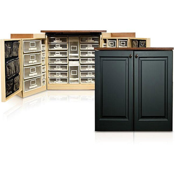 MiniBox Black Raised Panel Craft & Office Storage