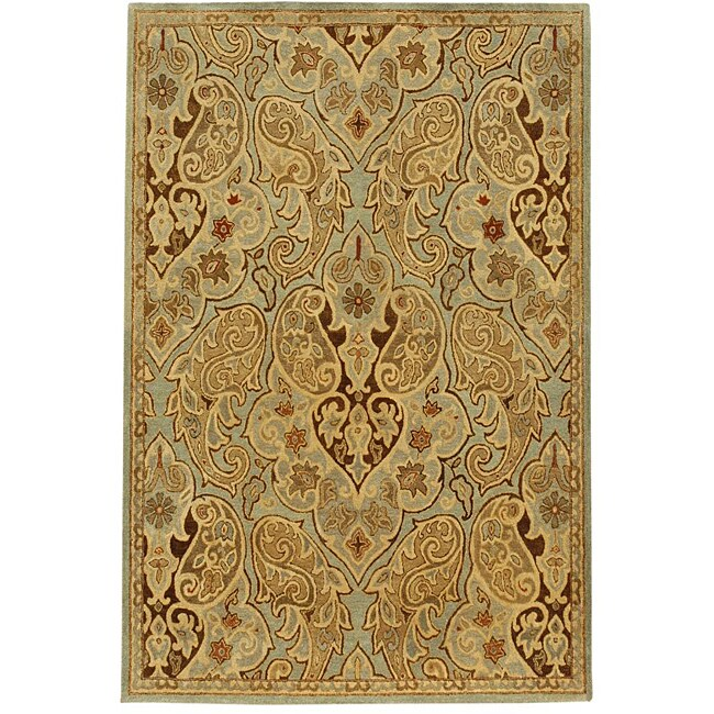 Transitional Hand-Tufted Wool Rug (8' x 11')