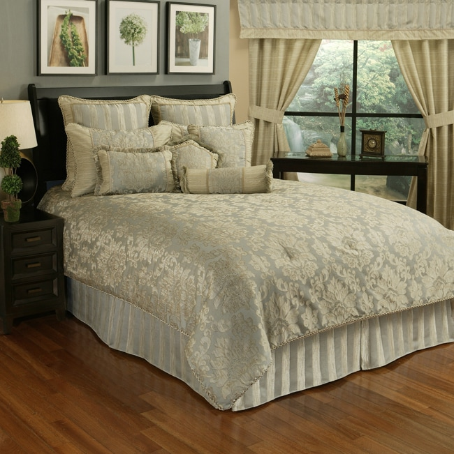 Sherry Kline Paloma Stripe 7-Piece Queen Comforter Set (Q...