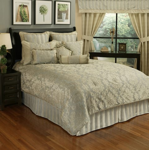 PCHF Paloma Stripe 7-Piece Queen Comforter Set