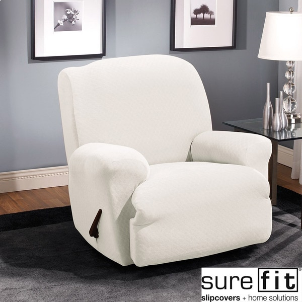 Sure Fit Stretch Stone Recliner Slipcover - Free Shipping ...