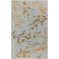 Hand-tufted Julian Gray Floral Wool Area Rug (9' x 13')