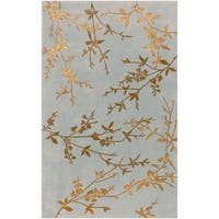 Hand-tufted Julian Gray Floral Wool Area Rug - 9' x 13'