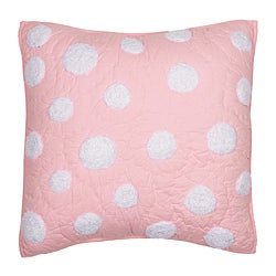 Cottage Home Light Pink Dot Decorative Pillow