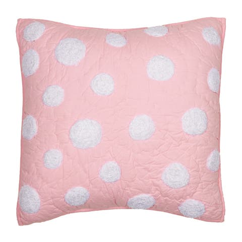 Cottage Home Laila Soft Pink Dot 16 Inch Throw Pillow