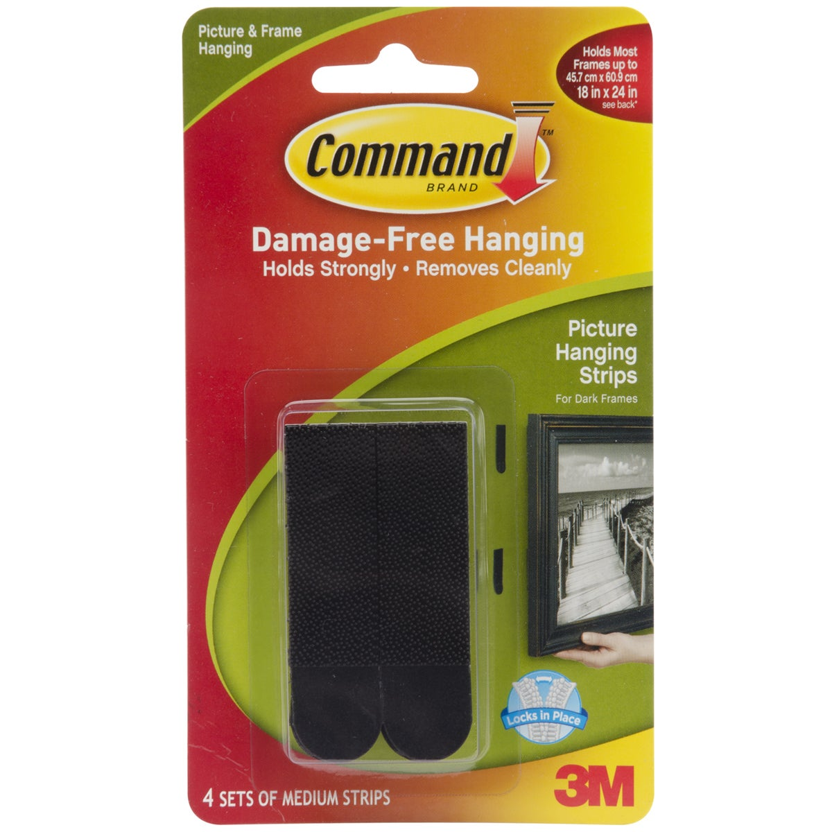 3M Command Black Medium Picture Hanging Strips (Set of 4)...