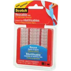 3M Scotch Reusable Clear Tabs (Pack of 72)