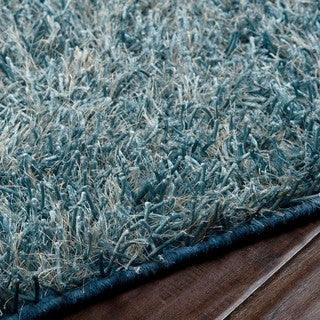 Hand-woven Raz Soft Plush Shag Rug (5' x 8')