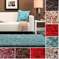 Hand-woven Raz Soft Plush Shag Area Rug (5' x 8') - 5' x 8'