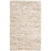 Safavieh Handmade Aspen Shag White/ Beige Wool Area Rug - 3' x 5'