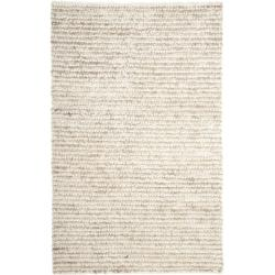 Safavieh Handmade Aspen Shag White/ Beige Wool Area Rug (5' x 8') - Thumbnail 1