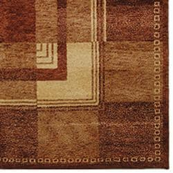 Safavieh Hand-knotted Selaro Grids Brown/ Beige Wool Rug (3' x 5') - Thumbnail 2