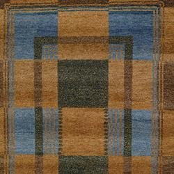 Safavieh Hand-knotted Selaro Grids Brown/ Blue Wool Rug (4' x 6')