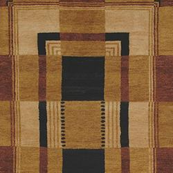 Safavieh Hand-knotted Selaro Grids Brown/ Black Wool Rug (6' x 9') - Thumbnail 1