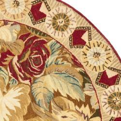 Safavieh Handmade Autumn Multi Hand-spun Wool Rug (4' Round) - Thumbnail 1