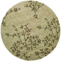 Safavieh Handmade Soho Moments Green New Zealand Wool Rug (6' Round) - 6' Round