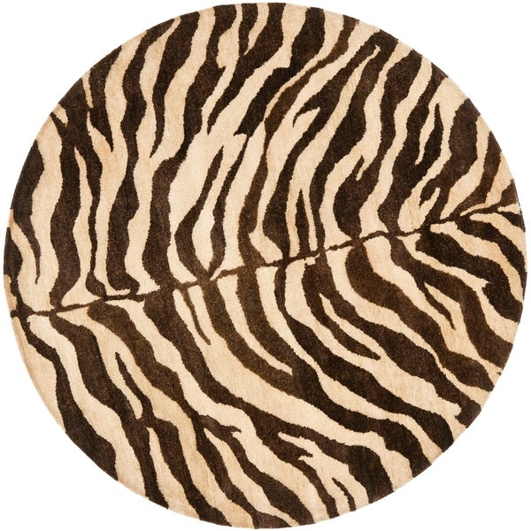 Shop Safavieh Handmade Zebra Beige Hand-spun Wool Rug
