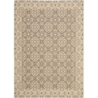 Safavieh Courtyard Elegance Brown/ Cream Indoor/ Outdoor Rug - 5'3 x 7'7