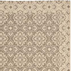 Safavieh Courtyard Elegance Brown/ Cream Indoor/ Outdoor Rug (8' x 11'2)