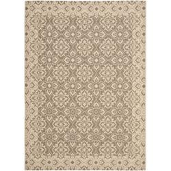 Safavieh Courtyard Elegance Brown/ Cream Indoor/ Outdoor Rug - 8' x 11'2 - Thumbnail 0