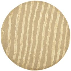 Safavieh Handmade Soho Beige New Zealand Wool Rug (6' Round)
