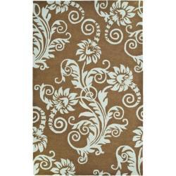 Safavieh Handmade New Zealand Wool Paris Light Brown Rug - 3'6 x 5'6 - Thumbnail 0