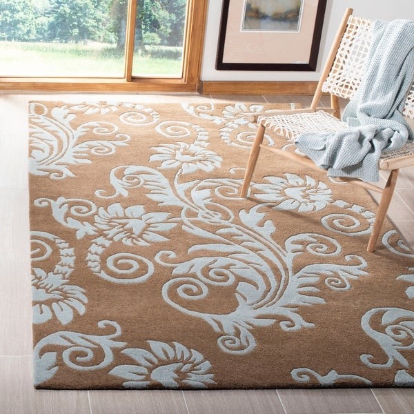 "Safavieh Handmade New Zealand Wool Paris Light Brown Rug - 7'6"" x 9'6"""