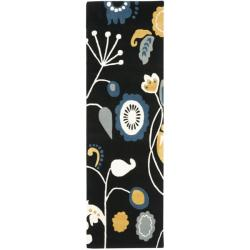 Safavieh Handmade New Zealand Wool Bliss Black Rug (2'6 x 8')
