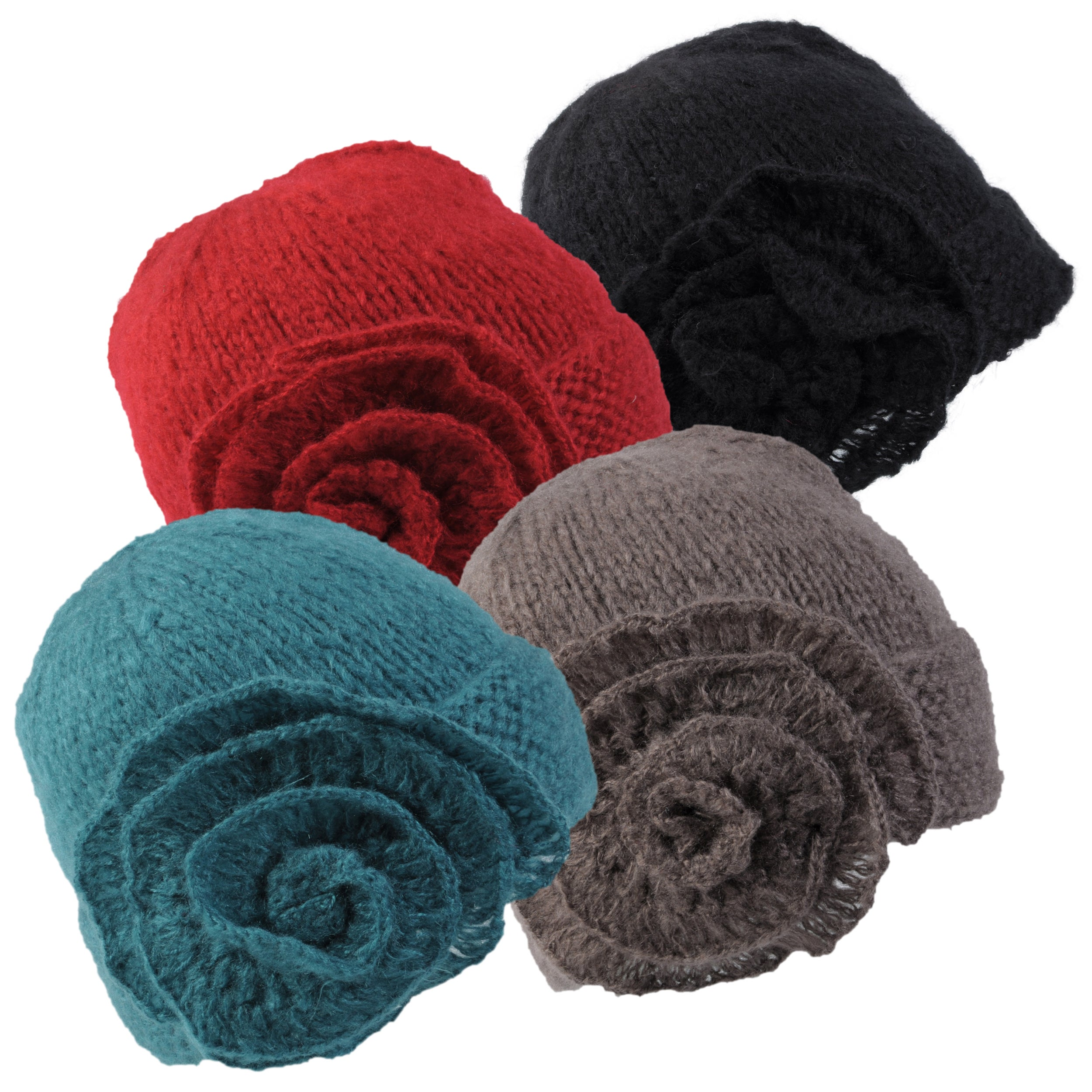 Journee Collection Women's Rosette Accent Knit Beanie