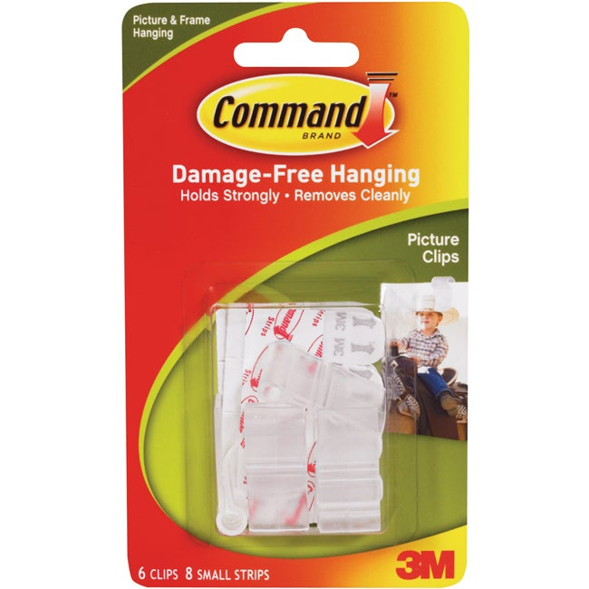 3M Command White Picture Clips with Strips