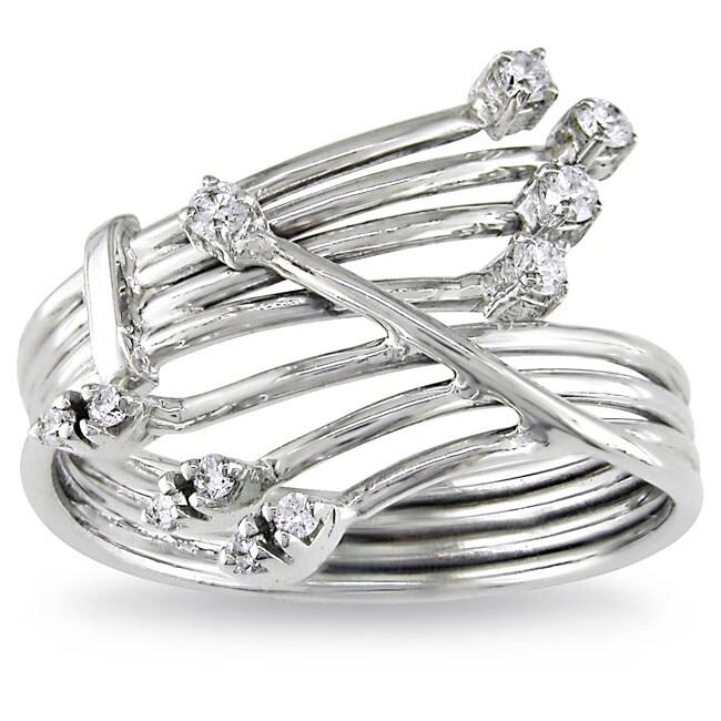 Miadora 14k White Gold Size 6 Diamond Ring