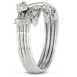 Miadora 14k White Gold Size 6 Diamond Ring - Thumbnail 1